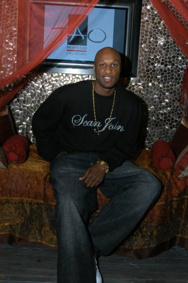 Los Angeles Lakers forward Lamar Odom at Tao.