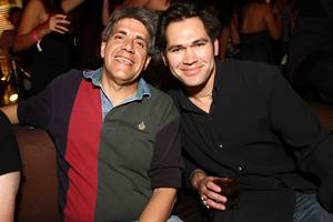 Yankees outfielder Johnny Damon, right, at Tao in the Venetian.