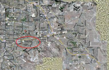 Beautiful Rochester, Nevada as seen on this map from Google.
