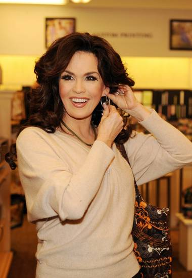 Marie Osmond celebrates the launch of her Marie Lifestyle Collection of accessories and home decor at the Hallmark Gold Crown in Henderson on Nov. 21, 2009.