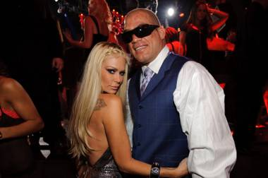 Jenna Jameson and Tito Ortiz at Tao in the Venetian on Nov. 21, 2009.