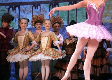 The dancers perform during a dress rehearsal for Nevada Ballet Theatre's production of The Nutcracker at Paris Las Vegas Thursday, December 17, 2009.