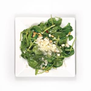 #50: Warm spinach salad