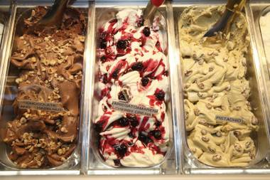 One of the things Jerry Mannino has kept from the previous incarnation of his Italian restaurant is the gelato bar.