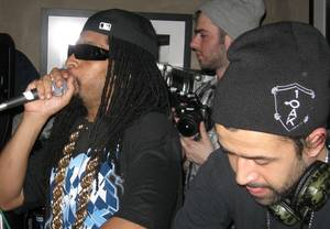 Lil Jon and DJ Jus Ske at Danny Masterson's Downstairs Nightclub during Sundance 2010