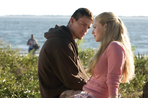 Channing Tatum (left) channels his inner Keanu Reeves for his role in Dear John.