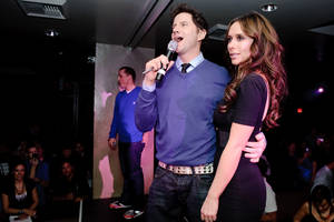 Jamie Kennedy and Jennifer Love Hewitt at Tao-A-GoGo