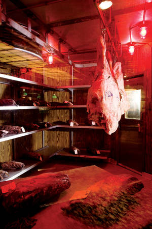 Meat ages for the Steakhouse at Circus Circus.