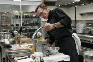 Rick Moonen during the first season of <em>Top Chef Masters</em>. The RM Seafood chef will return for season two.