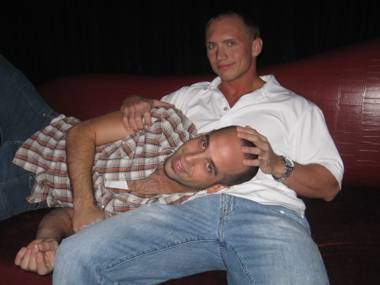 Porn star John Magnum puts Scotty B's casting couch to good use.