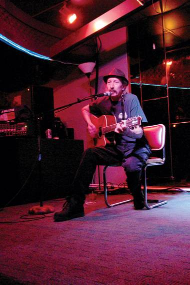 "Dekan Luos hosts ""folktrician"" open mic night at Turk's Bar and Lounge on Tuesdays."