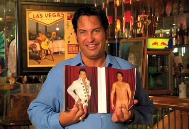 Elvis impersonator Jesse Garon gets naked.