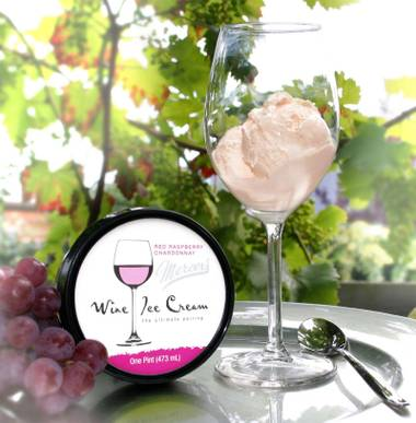 Red Raspberry Chardonnay is one of six new wine-flavored ice creams offered at Double Helix Wine Bar at the Shoppes at the Palazzo.