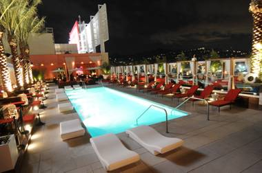 Drai's Wet pool at the W Hollywood would like right at home at any Sin City resort.