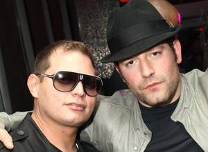 Hip-hop impresario Scott Storch, left, pictured with David Weintraub, is rumored to be have his eye on Vegas for his DJ debut.
