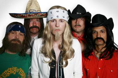 "Meet NAWGAHYDE, the ""Kings of Mustache Rock."""