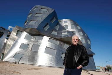 Las Vegas gets a new landmark with Frank Gehry's new Lou Ruvo Center for Brain Health.