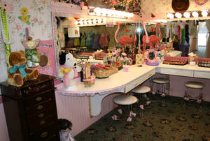 The princess make-up station at Olivia's Dollhouse Tea Room.