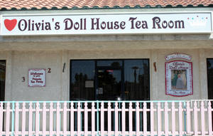 Olivia's Dollhouse Tea Room on Tropicana Ave. and Sandhill Rd.