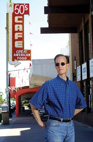 While researching the history of gay life in Las Vegas, historian Dennis McBride (photographed in 2001) also looked for an identity as a gay man.