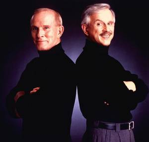 A recent publicity photo of the Smothers Brothers.