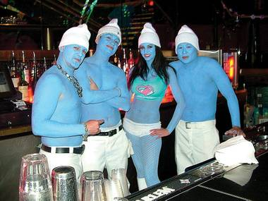 Bartending Smurfs at the Love Festival