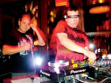 Ken Jordan (left) and Scott Kirkland of The Crystal Method at Blush, May 30, 2010.