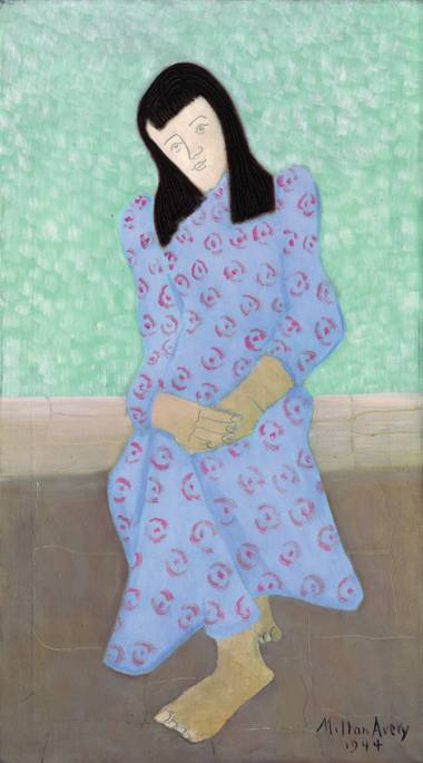 "Milton Clark Avery's ""The Artist's Daughter in a Blue Gown"""