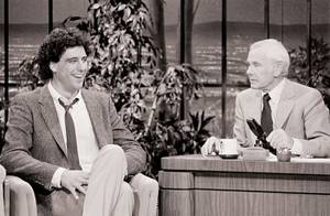 Humble beginnings: Brad Garrett on <em>The Tonight Show</em> in 1984.