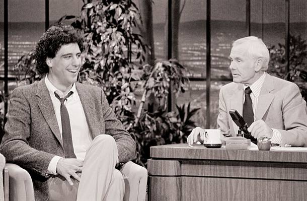 Humble beginnings: Brad Garrett on The Tonight Show in 1984.