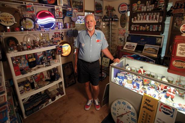 Pepsi collector Donald Howell