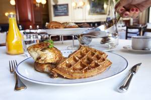 Bouchon's chicken and waffles