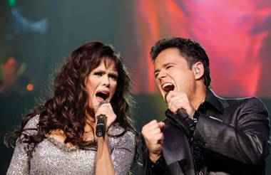 Marie and Donny Osmond
