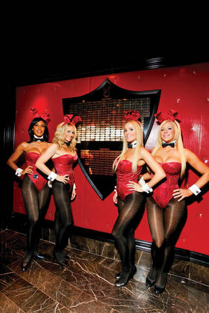 Wall o' Fame: Joining the N9NE Group's VIP membership program has its perks. Your own personal Playboy bunny isn't one of them. Sorry, guys.
