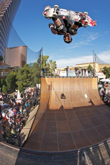 The Birdman raised funds for a Vegas skatepark with a few of his star friends.