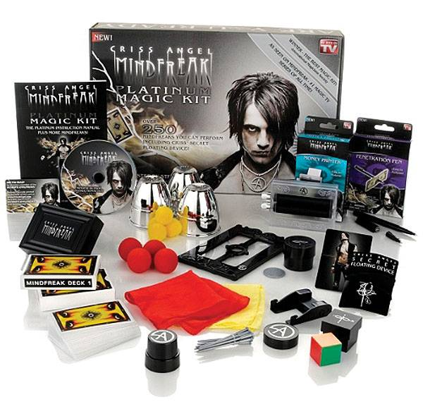 The Criss Angel Mindfreak Platinum Magic Kit retails for $30.