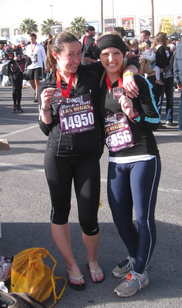 Me (left) and my running partner, Katie Euphrat, celebrating post-race.