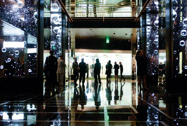 Moving art: The digital art in the Cosmopolitan's lobby is sure to get visitors talking.