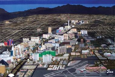 Las Vegas Tapestry by the artist Sola.