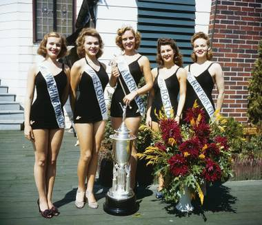 Jean Bartel, center, Miss America 1943, parlayed her success into a show on the Strip, opening for Danny Thomas.