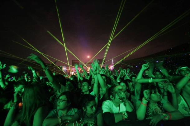 A scene from the 2009 Electric Daisy Carnival in Los Angeles.
