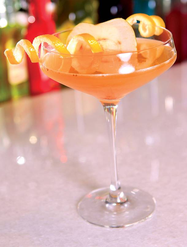 Roger Gross, mixologist at the Vesper Bar, dreamed this drink up as a twist on the classic sidecar.