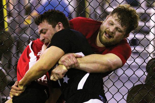 Roy Nelson (right) shows his grit.