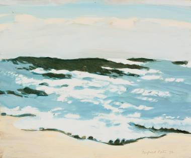 "Fairfield Porter's ""Sun on Rough Seas"" is one of the highlights of the Bellagio Gallery of Fine Art's latest show, ""A Sense of Place: Landscapes From Monet to Hockney."""