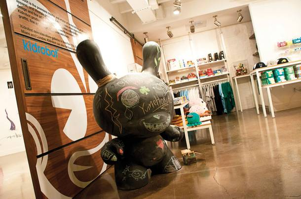 A Dunny, A Munny and a Labbit walk into a temporary KIdrobot store inside Cosmopolitan's P3 Studio...