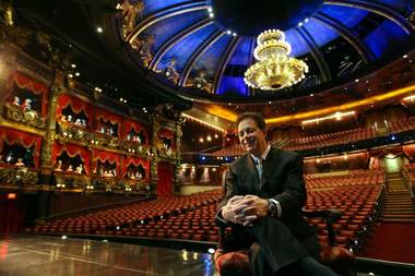 "Scott Zeiger, co-CEO of BASE Entertainment, which produces ""Phantom — The Las Vegas Spectacular"" at The Venetian, said his various Las Vegas shows offer variety and uniqueness. Zeiger is pictured in The Venetian theater on June 22, 2011."