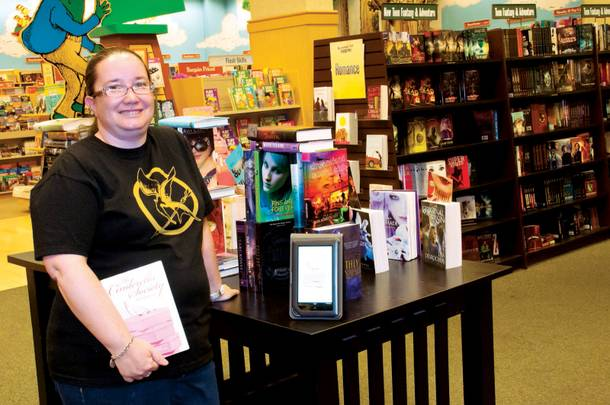 Crystal Perkins is one of Barnes & Noble's community outreach supervisors, who organize author signings, run holiday book drives and promote literacy.