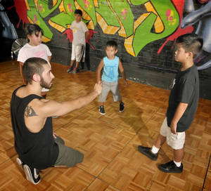 Multiple forms of hip-hop dance are taught at Tunay.
