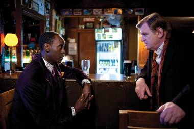 Riggs and Murtaugh, er, Brendan Gleeson and Don Cheadle do their buddy cop thing in 'The Guard.'