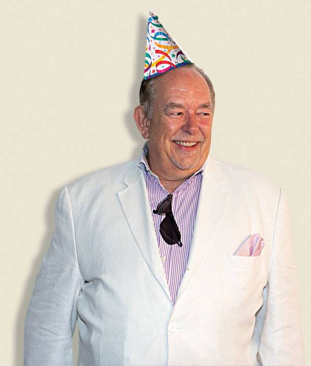 Robin Leach celebrates 50 years in celebrity journalism at Surrender on Friday.